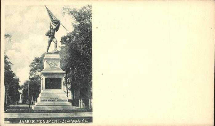 Savannah Georgia Jasper Monument Kat. Savannah