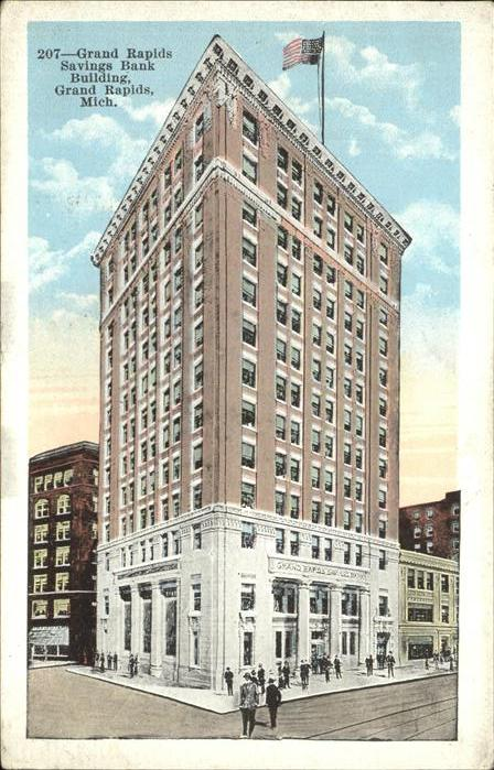 Grand Rapids Michigan Savings Bank Building Kat. Grand Rapids