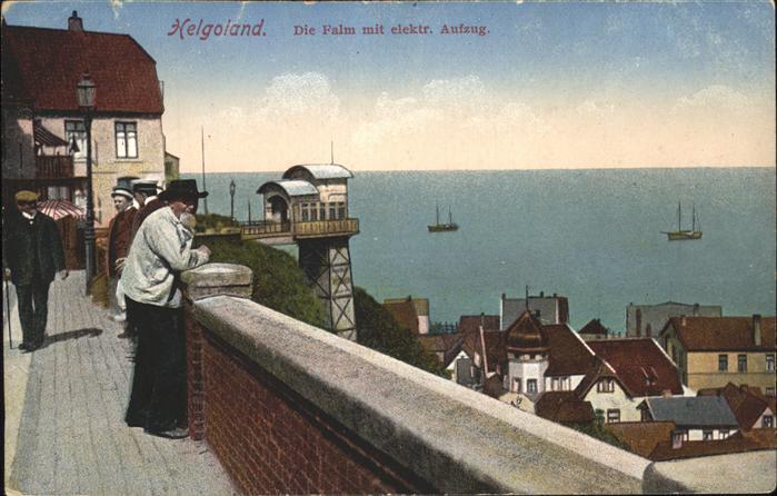 Helgoland Lift Promenade Falm Schiff Menschen / Helgoland /Pinneberg LKR