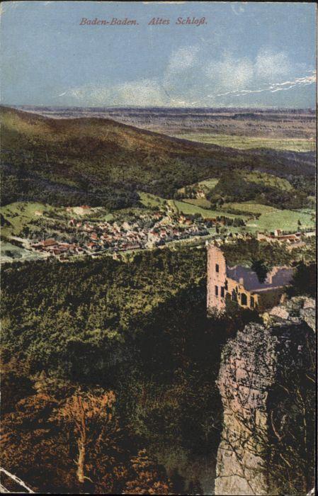 Baden-Baden Baden-Baden Altes Schloss  * / Baden-Baden /Baden-Baden Stadtkreis