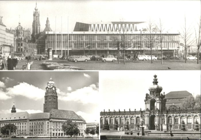 Dresden Dresden Kulturpalast Rathaus Zwinger * / Dresden Elbe /Dresden Stadtkreis