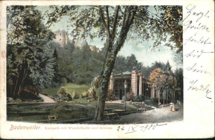 Badenweiler Badenweiler Kurpark Wandelhalle Schloss x / Badenweiler /Breisgau-Hochschwarzwald LKR