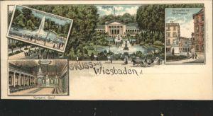 Wiesbaden Wiesbaden Grosse Fontaine Kurhaus Kranzplatz Kochbrunnen  * / Wiesbaden /Wiesbaden Stadtkreis