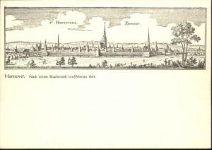 Hannover Hannover nach Kupferstich Merian * / Hannover /Region Hannover LKR