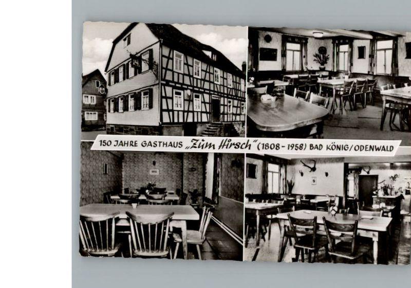 Bad Koenig Gasthaus Zum Hirsch Nr K129326 Oldthing