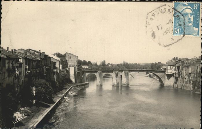 Villeneuve sur Lot Le vieux Pont sur le Lot Kat. Villeneuve sur Lot