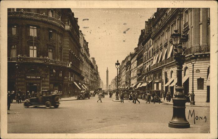Paris la rue de la Paix Kat. Paris