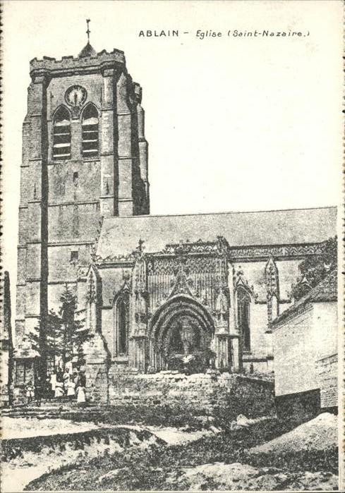Ablain Saint Nazaire Eglise Kat. Ablain Saint Nazaire