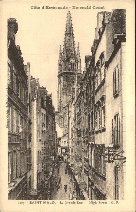 Saint Malo Ille et Vilaine Bretagne la Grande rue Kat. Saint Malo