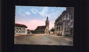 Viarmes Place de la Mairie l Eglise Kat. Viarmes