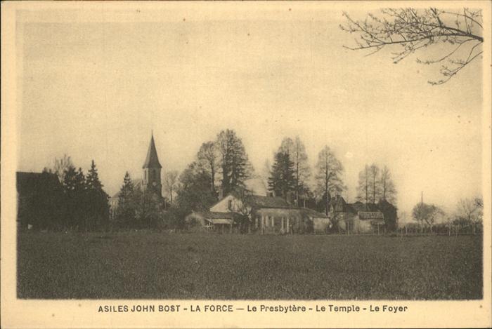 La Force Aude Asiles John Bost Le Presbytere Le Temple Kat. La Force
