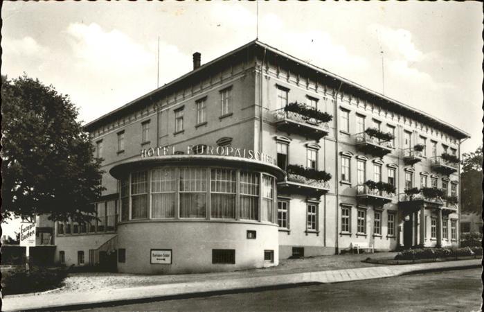 Bad Wildungen Hotel Europaeischer Hof Kat. Bad Wildungen