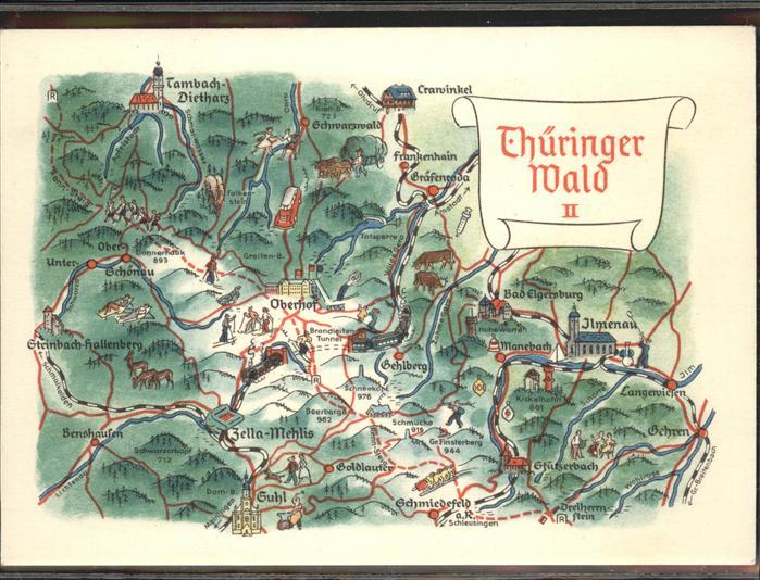 Thüringer Wald Karte.Oberhof Thueringen Zeichnung Karte Thueringer Wald Kat Oberhof Thueringen