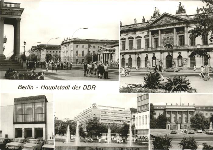 Berlin Unter den Linden Museum Humboldt-Uni Komische Oper Kat. Berlin