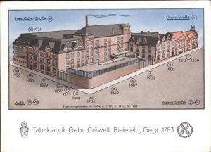 Bielefeld Neustaedter Str. Obern Str. Tabakfabrik Kat. Bielefeld