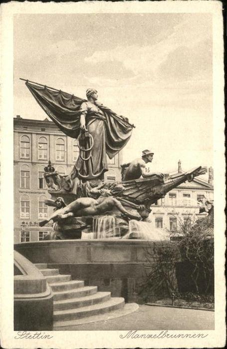 Stettin Westpommern Manzelbrunnen Kat. Szczecin