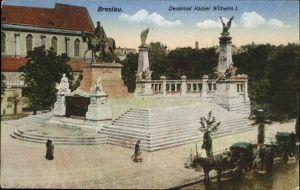 Breslau Niederschlesien Denkmal Kaiser Wilhelm I Feldpost Kat. Wroclaw