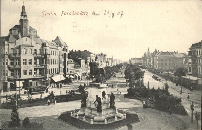 Stettin Westpommern Paradeplatz Denkmal Kat. Szczecin