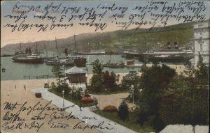Trieste Molo S. Carlo Hafen Boote Kat. Trieste
