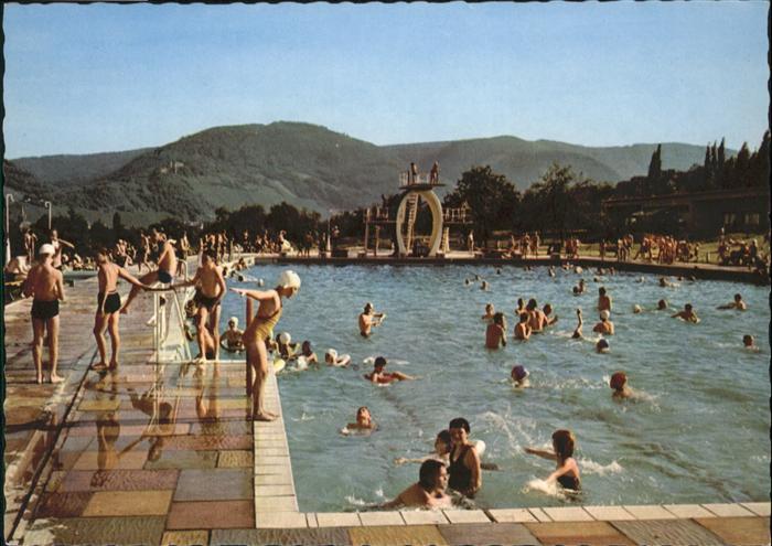 wb02122 Bernkastel-Kues Bernkastel-Kues Mosel Schwimmbad  * Kategorie. Bernkastel-Kues Alte Ansichtskarten
