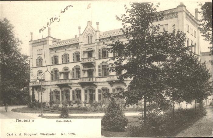wb18732 Bad Neuenahr-Ahrweiler Bad Neuenahr Kur Hotel  * Kategorie. Bad Neuenahr-Ahrweiler Alte Ansichtskarten