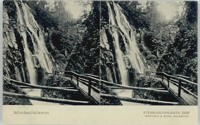 Berchtesgaden Berchtesgaden Wimbachklamm ungelaufen ca. 1910 / Berchtesgaden /Berchtesgadener Land LKR