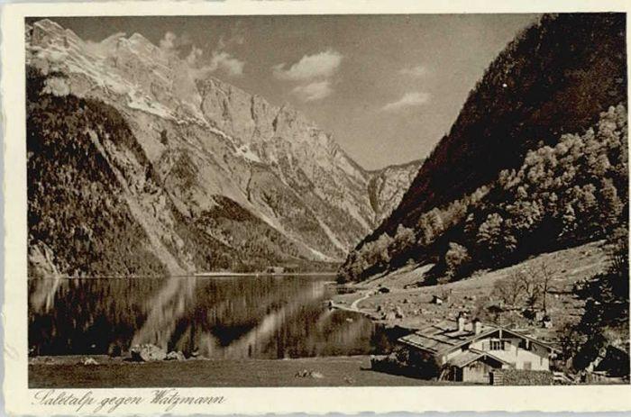 Berchtesgaden Berchtesgaden Saletalp Watzmann ungelaufen ca. 1930 / Berchtesgaden /Berchtesgadener Land LKR
