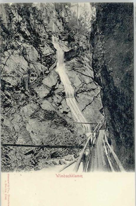Berchtesgaden Berchtesgaden Wimbachklamm ungelaufen ca. 1900 / Berchtesgaden /Berchtesgadener Land LKR