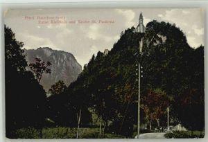 Bad Reichenhall Bad Reichenhall Ruine Karlstein St. Pankratz Kirche  ungelaufen ca. 1920 / Bad Reichenhall /Berchtesgadener Land LKR