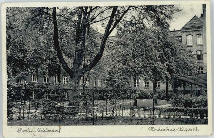 Berlin Berlin Zehlendorf Hindenburg-Lazarett x / Berlin /Berlin Stadtkreis