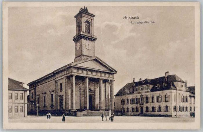 we15169 Ansbach Mittelfranken Ansbach Ludwigs-Kirche * Kategorie. Ansbach Alte Ansichtskarten