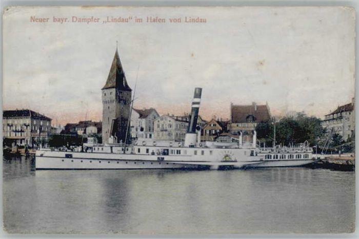 Lindau Bodensee Hafen Dampfer Lindau x