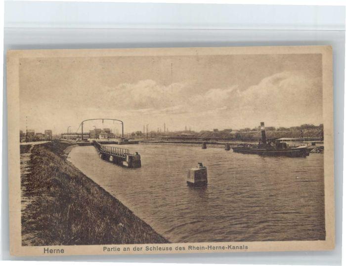 Herne Westfalen Herne Schleuse des Rhein Herne Kanals * / Herne /Herne Stadtkreis