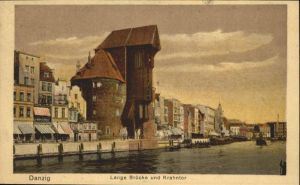 Danzig Westpreussen Lange Bruecke Krahntor  / Gdansk /