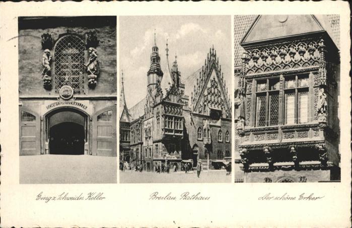 Breslau Niederschlesien Rathaus Erker Schweidnitzer Keller / Wroclaw /
