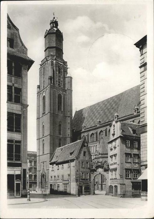 Breslau Niederschlesien Elisabeth Kirche  / Wroclaw /