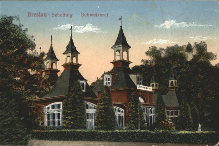 Breslau Niederschlesien Scheitnig Schweizerei / Wroclaw /