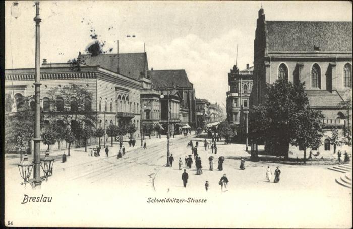 Breslau Niederschlesien Schweidnitzer Strasse  / Wroclaw /