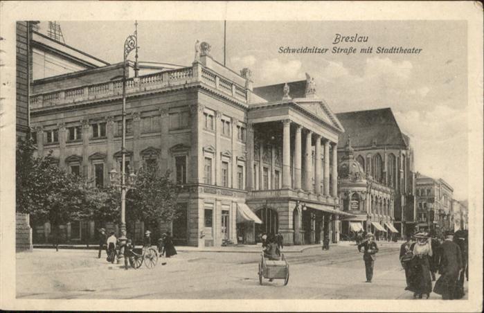 Breslau Niederschlesien Schweidnitzer Strasse Stadttheater  / Wroclaw /