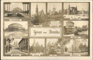 Breslau Niederschlesien Bahnhof Park Postscheckamt Dom Rathaus Jahrhunderthaus  / Wroclaw /