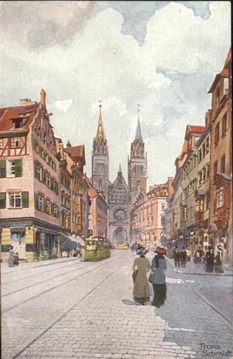 Nuernberg Karolinenstrasse Lorenzkirche / Nuernberg /Nuernberg Stadtkreis