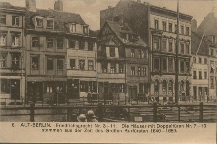 Berlin Alt-Berlin Friedrichsgracht / Berlin /Berlin Stadtkreis