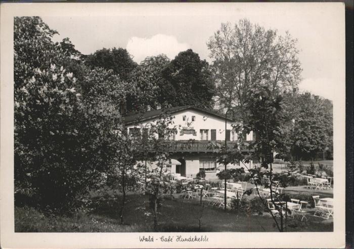 Berlin Grunewald Wald-Cafe Hundekehle / Berlin /Berlin Stadtkreis