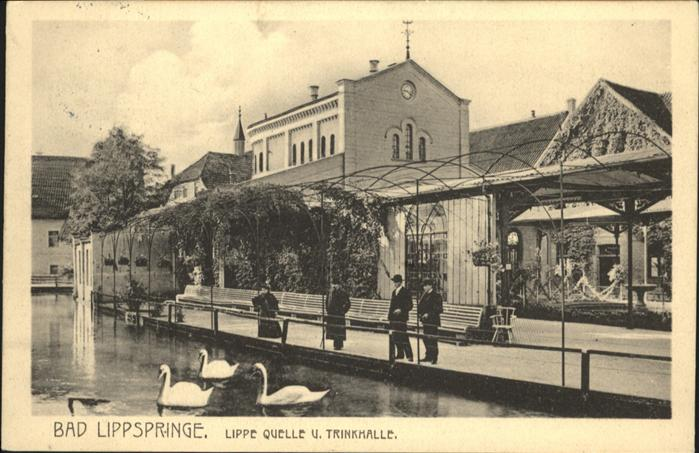 Bad Lippspringe Lippequelle Trinkhalle Schwaene / Bad Lippspringe /Paderborn LKR