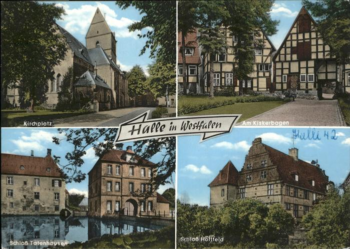 Halle Westfalen Kirchplatz Schloss Tatenhausen Schloss Holtfeld / Halle (Westf.) /Guetersloh LKR