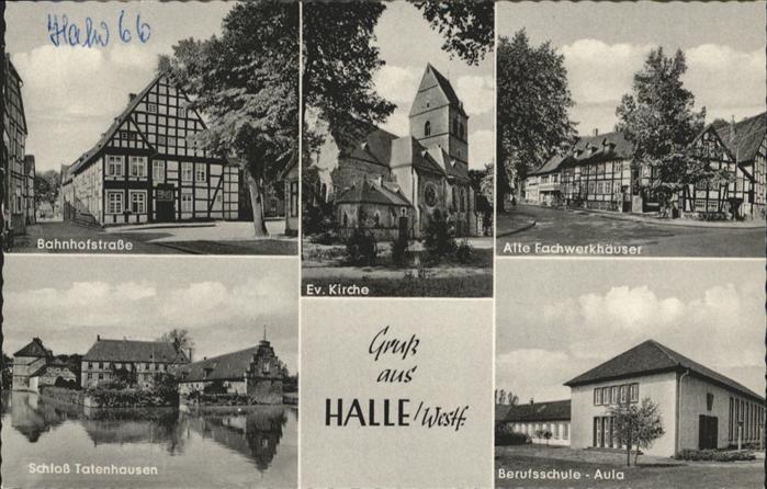 Halle Westfalen Bahnhofstrasse Evang. Kirche Schloss Tatenhausen / Halle (Westf.) /Guetersloh LKR
