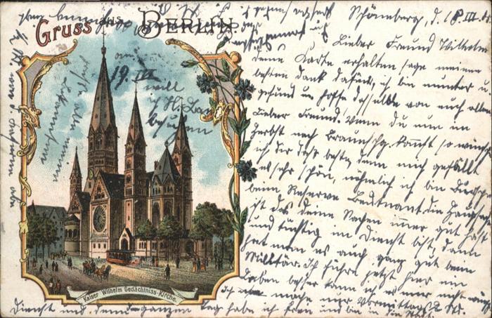 Berlin Kaiser Wilhelm Gedaechtnis-Kirche / Berlin /Berlin Stadtkreis
