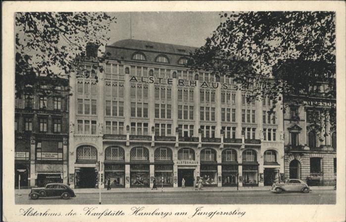 Hamburg Alsterhaus  Kaufstaette Hamburgs Jungfernstieg / Hamburg /Hamburg Stadtkreis