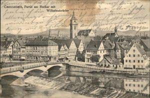 Stuttgart Neckar Wilhelmsbruecke / Stuttgart /Stuttgart Stadtkreis