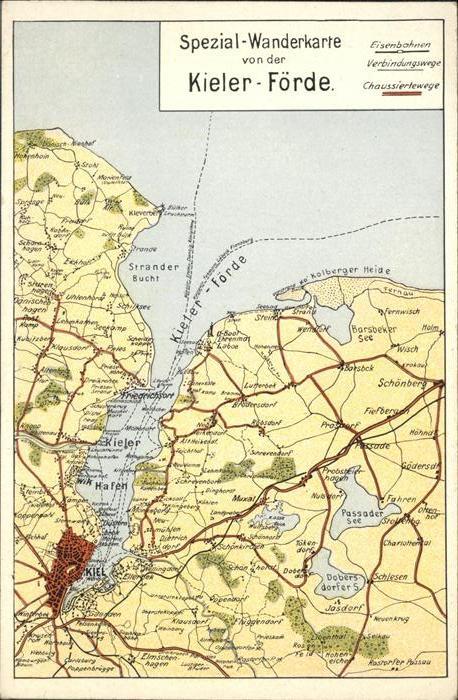 Kieler Bucht Karte.Kiel Landkarte Kieler Foerde Kiel Kiel Stadtkreis